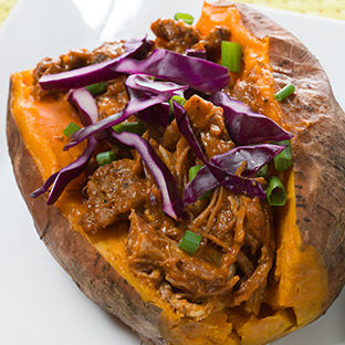 Pulled Pork with Sweet Potatoes