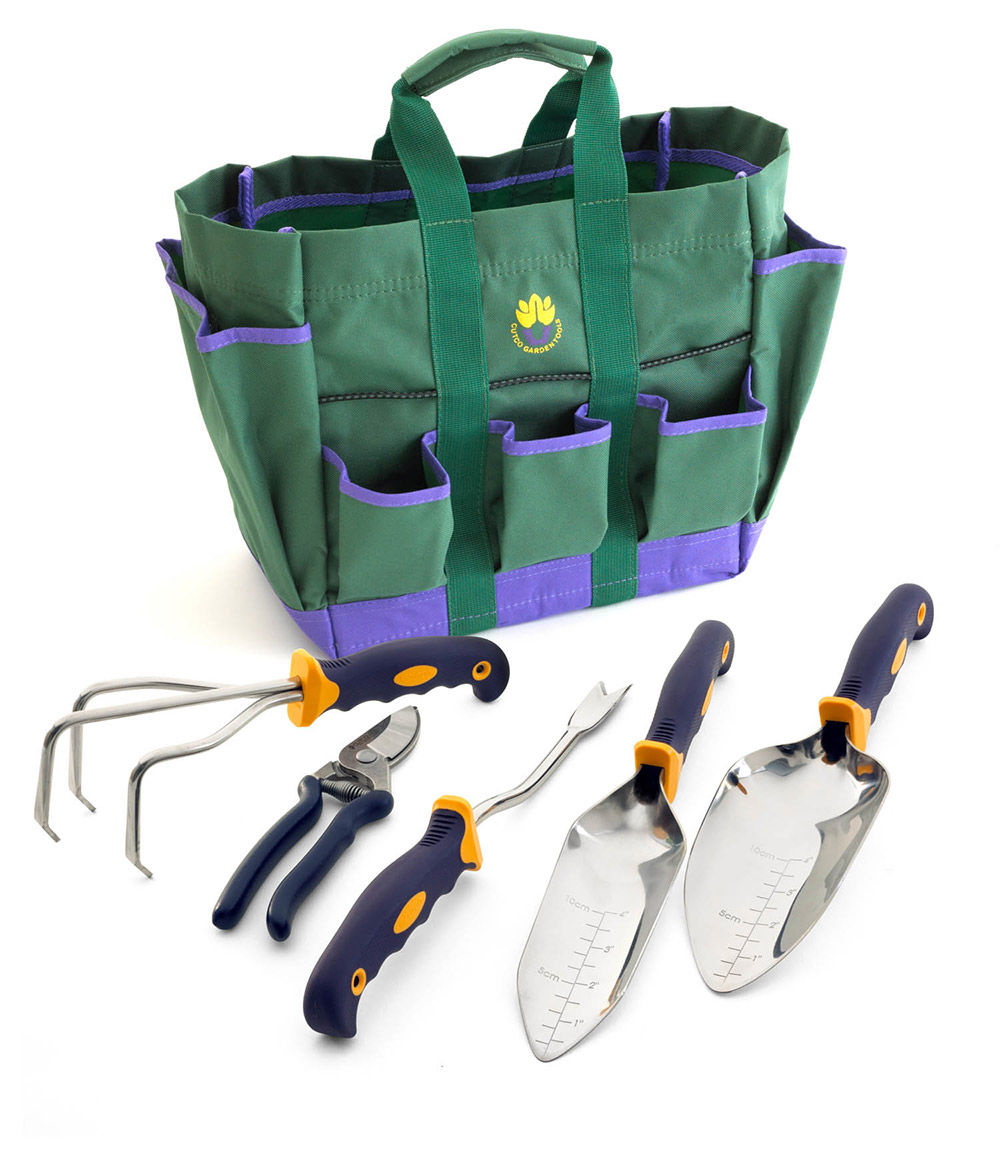Superbe 5 Pc. Garden Tool Set W/FREE Garden Bag