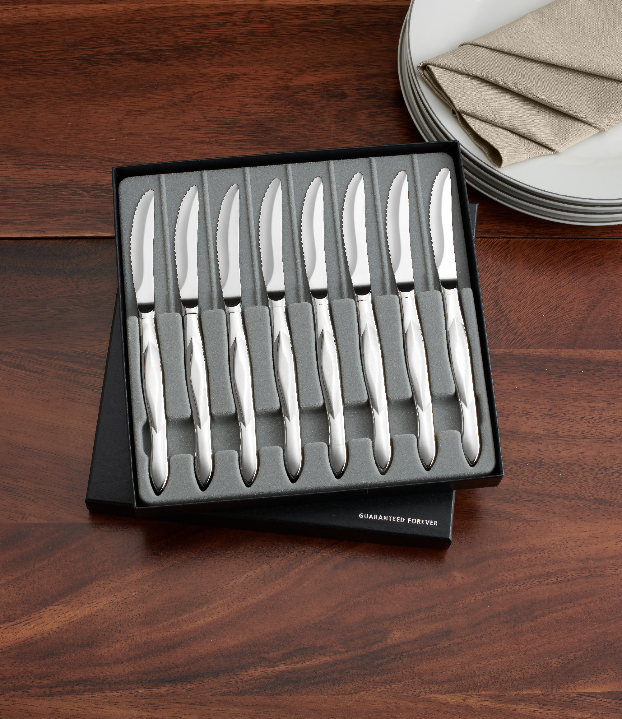 8 pc stainless table knife set in gift box. beautiful ideas. Home Design Ideas