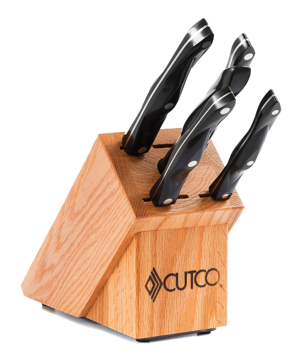 essentials set with block 7 pieces knife block sets by cutco