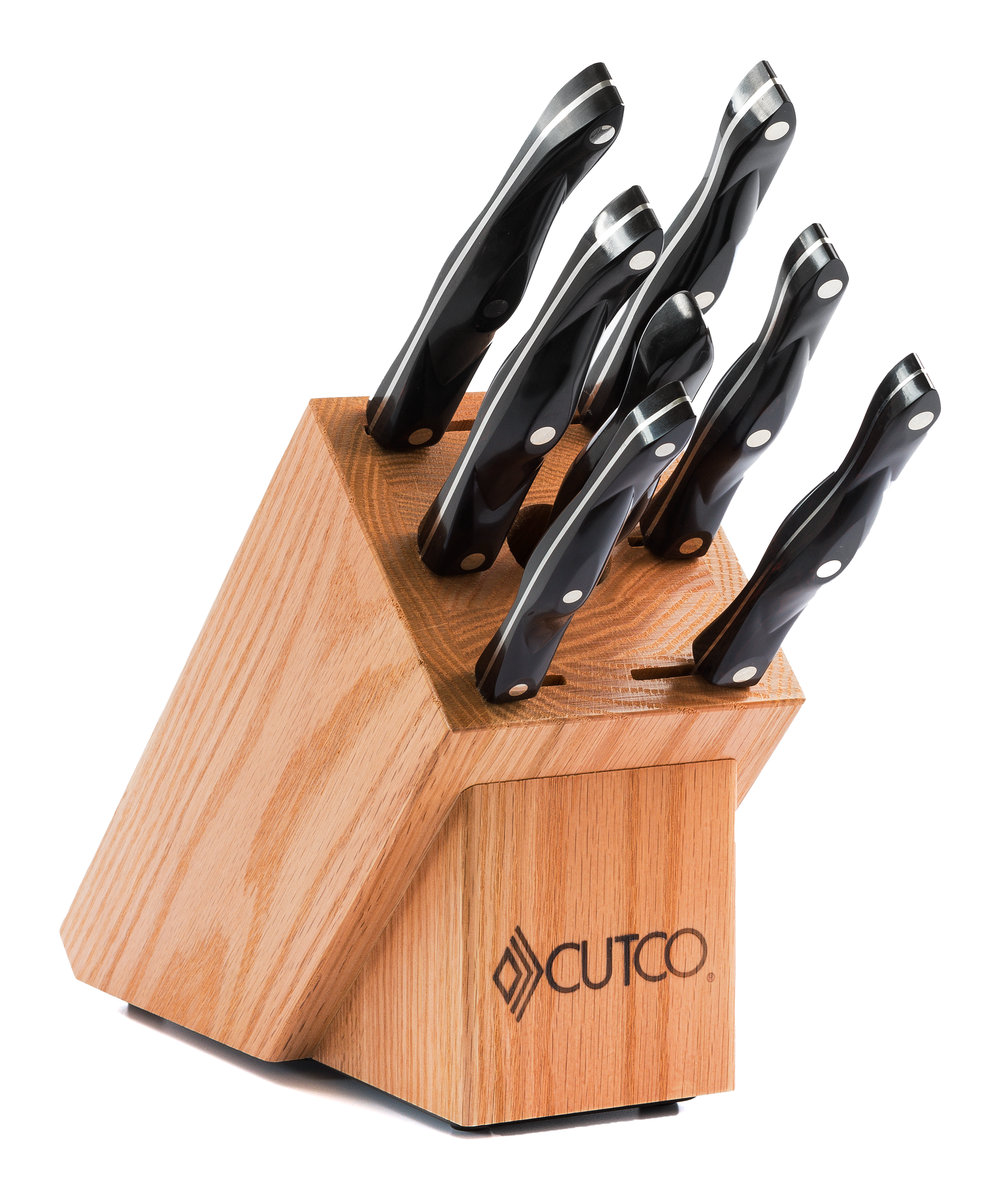 Galley set with block 9 pieces knife block sets by cutco galley set with block teraionfo