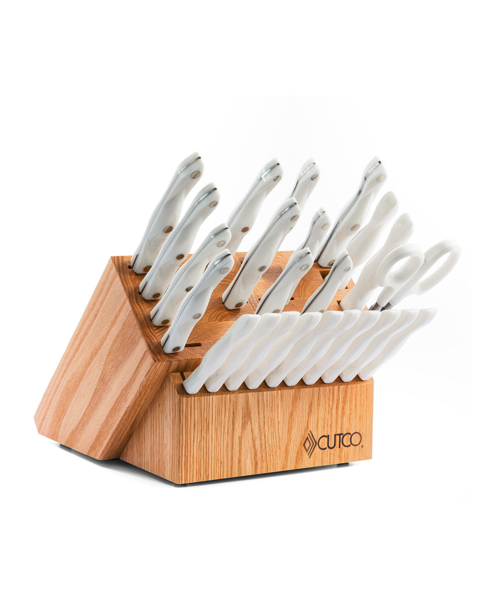 santoku style signature set with block 29 pieces knife block