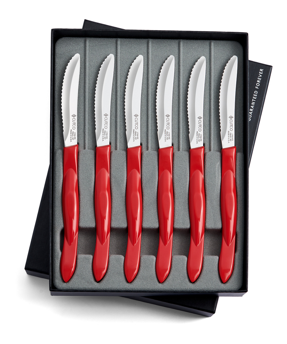 6 pc table knife set gift boxed sets by cutco