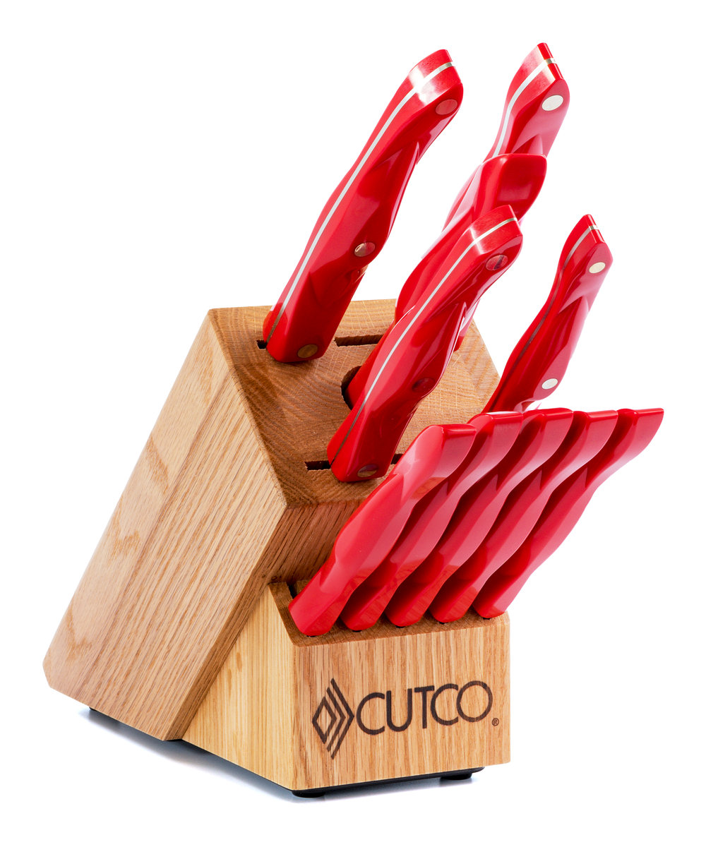 White Kitchen Knives essentials + 5 set with block | 12 pieces | knife block setscutco