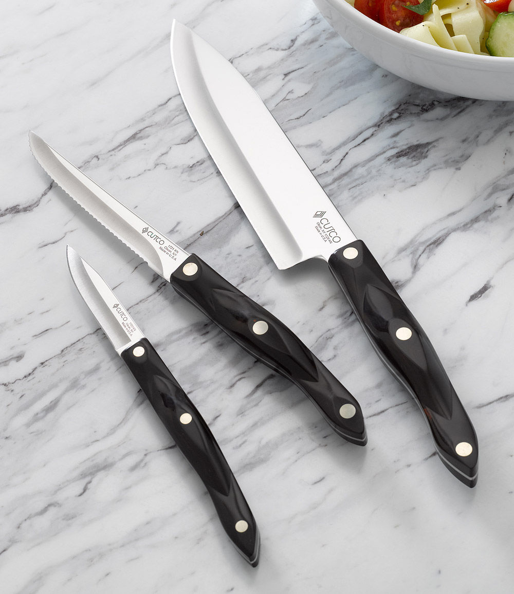 kitchen classics 3 pieces gift boxed knife sets by cutco. Black Bedroom Furniture Sets. Home Design Ideas