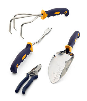 4-Pc. Garden Tool Set with Bypass Pruners