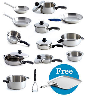 Accomplished Chef Cookware Set w/ FREE Griddle
