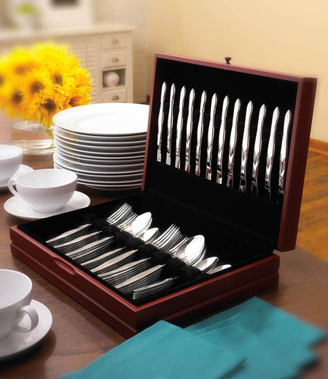 60-Pc. Stainless Flatware Set in FREE Chest (12 Place Settings)