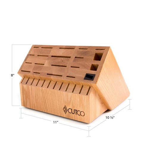Ultimate Set Block 32 Slot Wood Knife Storage By Cutco