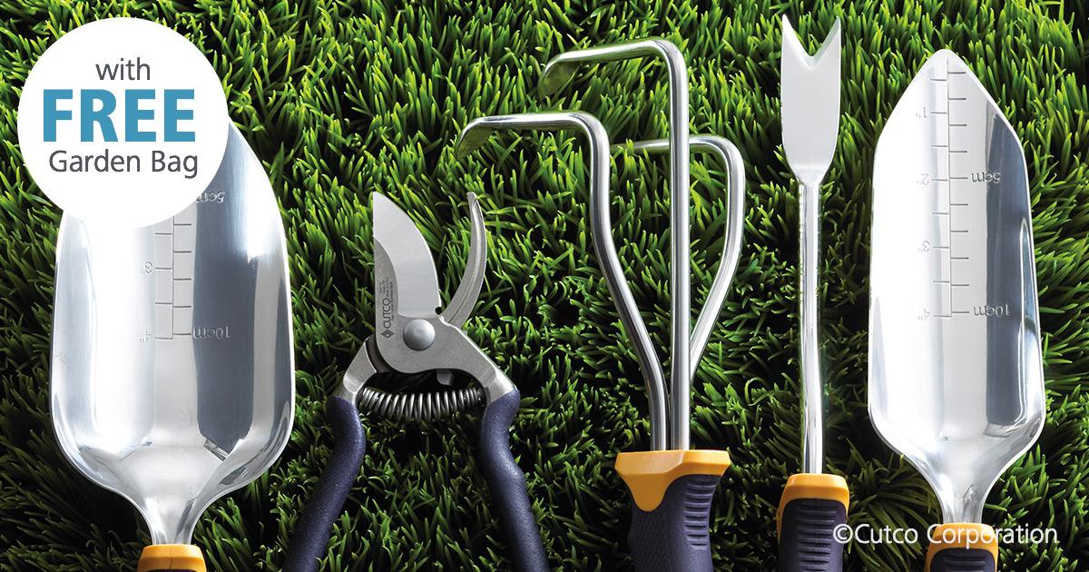 5-Pc. Garden Tool Set w/FREE Garden Bag | Garden Tools by Cutco