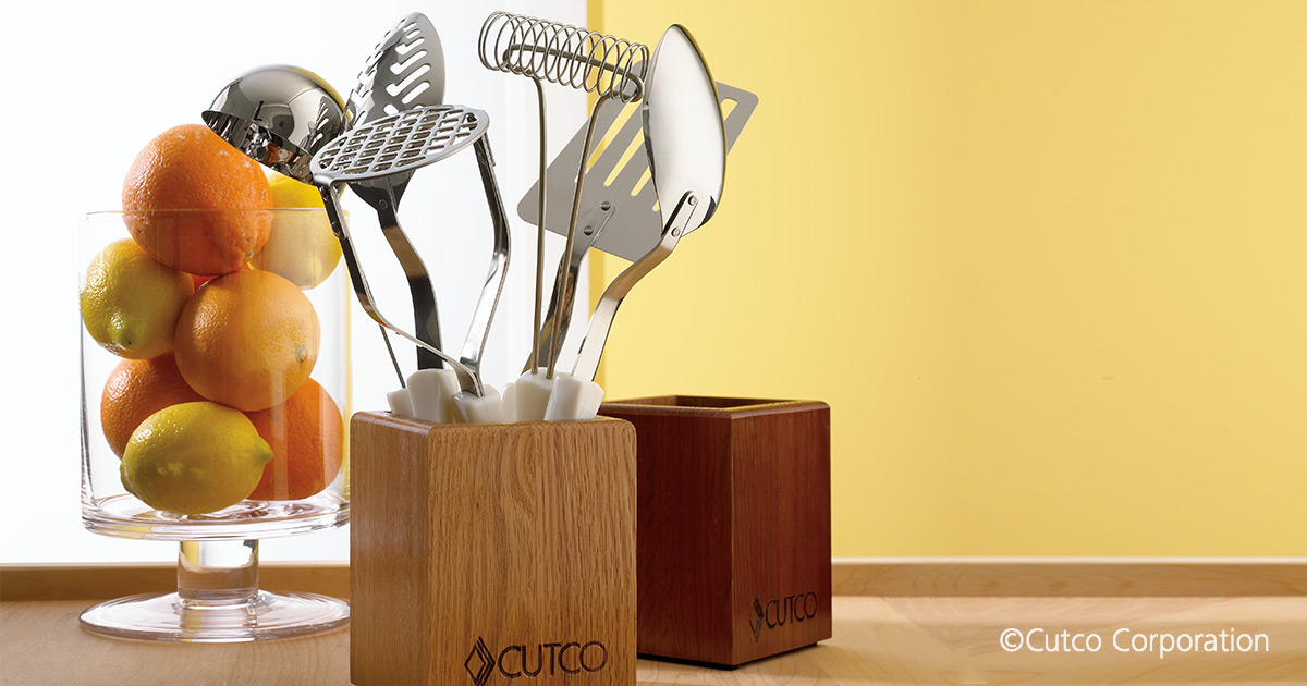 Kitchen Tool Holder | Wood Utensil Storage By Cutco