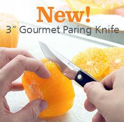 New 3 Inch Gourmet Paring Knife